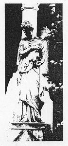 Graven Image Rubber Stamp GI112D - Statuary with Column