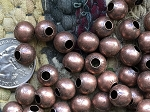 Bulk Wholesale Supplies 10mm Nickel Free Copper Round Beads with Large 5mm Hole 50 Pieces