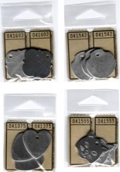 Aluminum shaped tags (3) - Cat