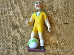 Day of the Dead Soccer Player Papier Mache Figure