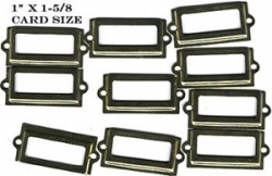 Brass label holders (tiny) (10) - nickel-plated