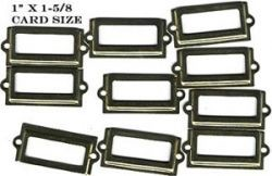 Brass label holders (tiny) (10) - brass-plated