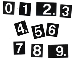 Package of 10 Plastic Numbers