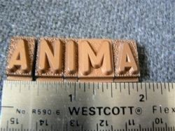 Vintage metal type - 3/8 inch wide by 3/4 inch tall - Letter S
