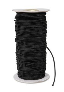 2mm Black Elastic Cord by the Yard