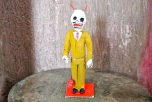 Day of the Dead He Devil Papier Mache Figure