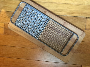 Vintage Metal Grater with Grid Top One of A Kind