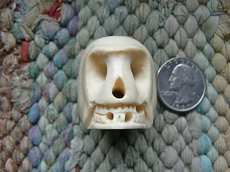 Beads Bone 27x33mm Giant Bone Skull Bead