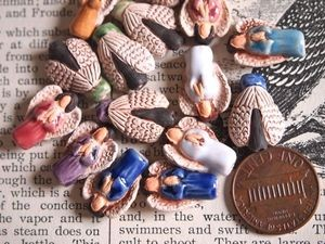 Small Porcelain Ceramic Angel Bead Assorted Color