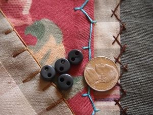 4 Grey Porcelain Ceramic Cord Adjuster Beads
