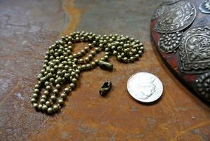 antique bronze ball chain
