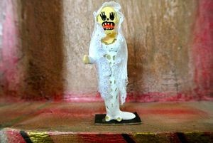 Day of the Dead Bride Papier Mache Figure