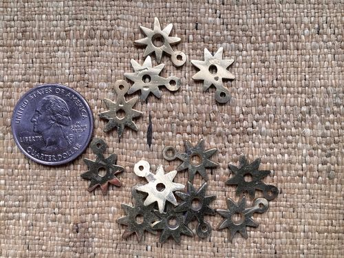 Small Brass Adinkra Nsoromma Star Charm 17mm