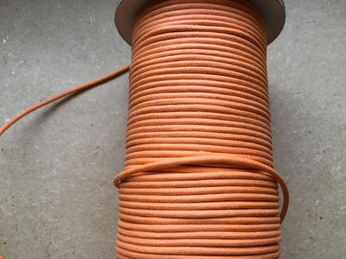Waxed cotton cord in Your Choice of Colors