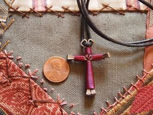 Handmade Horseshoe Nail Cross Necklace