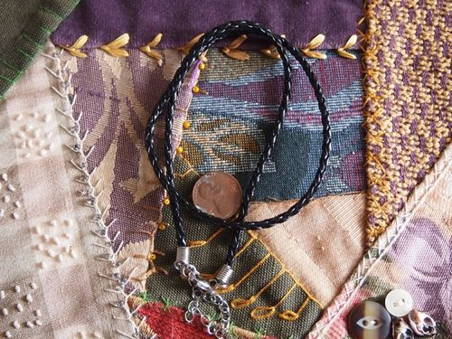 Thai Amulet Woven Cord Necklace with Silver Findings
