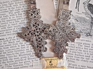 Antique Silver Metal Coptic Christian Cross in Choice of 5 Designs