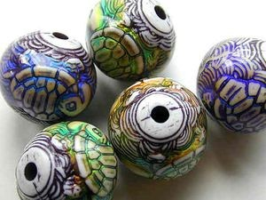 Rondell Turtle Mood Bead 17x16mm