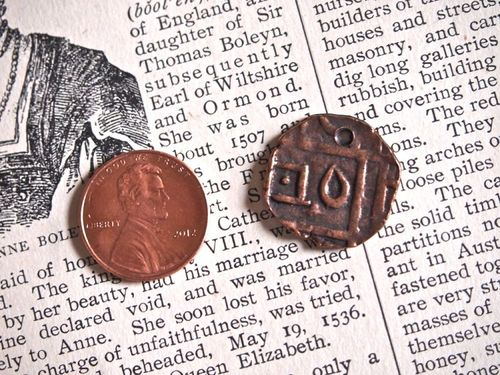 Replica Bhutan Copper Coin Pendant or Charm