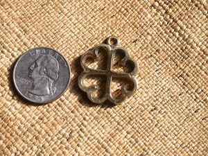 Brass or Silver Adinkra NYAME DUA Tree of God Charm 28mm