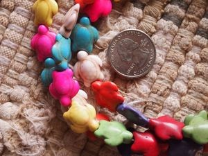 14x18mm Multicolor Howlite Sea Turtle Bead Strand