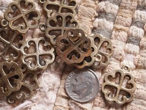 Brass or Silver Adinkra Nyame Dua Tree of God 20mm Charm