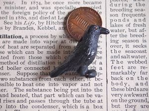 Ceramic:  Crow/raven bead