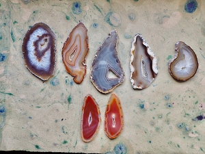 Large or Extra Large Natural Agate Occo Oco Geode Slice with Druzy