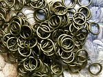 150+ 8mm Jump Rings Antique Bronze