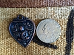 Antique Copper Sitting Buddha Heart Amulet