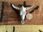 Giant High Fired Ceramic Bull Skull Pendant
