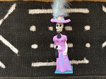 Day of the Dead Lady with Pink Hat and Feather