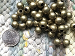Bulk Wholesale Supplies 10mm Nickel Free Antique Bronze Round Beads with Large 4mm Hole 50 Pieces