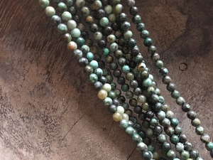 Full Strand Natural Turquoise 3mm Round Beads