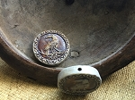 Porcelain Ceramic High-Fired Raven/Crow Pendant Coin Bead
