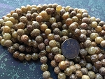 Antique Jade Carved Round Beads 8mm Earthtones