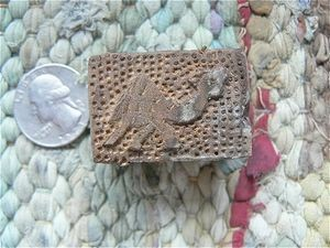 Handcarved Mini Wood Block Stamp Whistle Camel