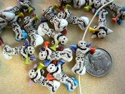 Ceramic Skeleton Angel Beads