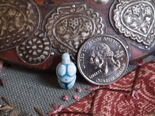 Smaller Ceramic Raku Goddess Bead