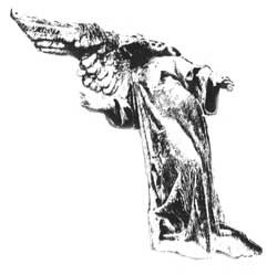 Graven Image Rubber Stamp GI124D Porter Angel Alternate View