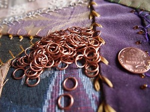 150+ 8mm Jump Rings Antique Copper