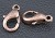 Tiny Nickel Free Zinc Alloy Lobster Claw Clasp Antique Copper