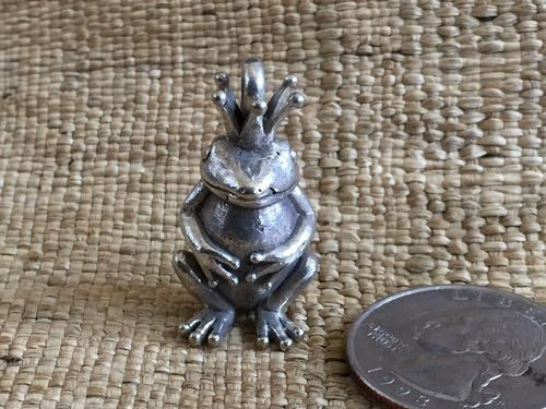 Brass or Silver Frog Prince Pendant