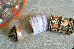 Opening Brass and Copper Prayer Wheel Bead