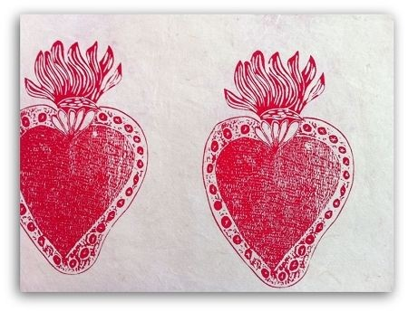 Milagro Paper - Borges Hearts Milagro Paper