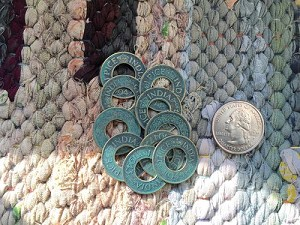 10 Pcs 1940's Vintage Pice India Coins with Patina