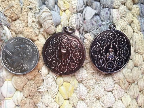 Thai Buddha's Footprint Round 28mm Coin Amulet