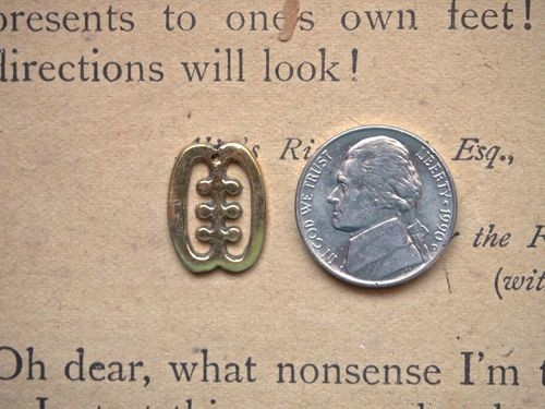 Small Brass or Silver Adinkra Ese Ne Tekrema-the teeth and the tongue charm 18mm