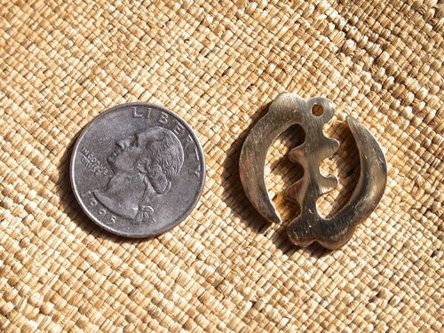 Brass or Silver Adinkra Gye Nyame 25mm Charm